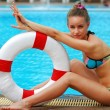 Stock Photo: Girl with buoy