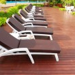 Stock Photo: Chaise Lounge patio