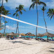 Beach Volleyball Net - Stock Photo