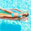 Girl in swimming pool — Stock Photo #1538919