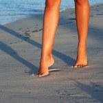 Evening beach walk — Stock Photo