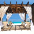Stock Photo: Beach pergola