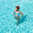 Girl in swimming pool — Stock Photo #1539420