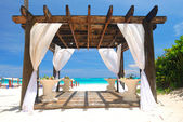 Beach pergola — Stock Photo