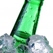 Stock Photo: Green beer bottle