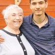 Royalty-Free Stock Photo: Grandmother and grandson