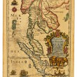 Antique Thailand map — 图库照片