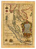 Antique Thailand map — Stock Photo