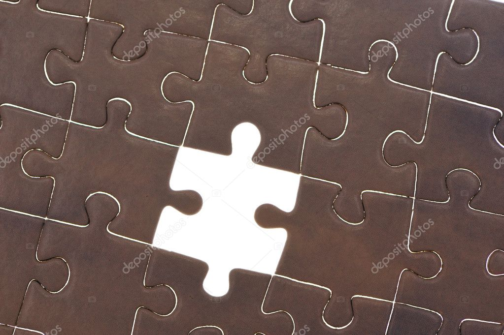 Jigsaw puzzle with one piece missing background — Stock Photo #1546652