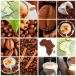 Coffee collage - 图库照片