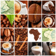 Coffee collage - Stock fotografie