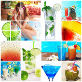 Cocktail collage — 图库照片