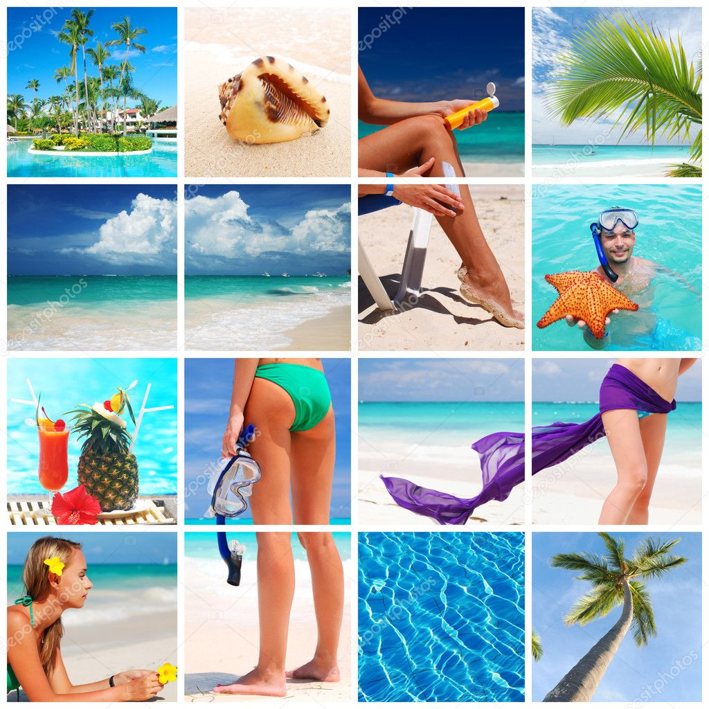 Collage made with beautiful tropical resort shots — Stock Photo #1571726