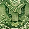 Dollar bill extreme close up — Stock Photo