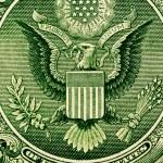Dollar bill extreme close up — Stock Photo