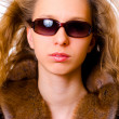 Stock Photo: Girl in fur coat