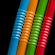 Stock Photo: colored straws