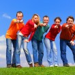 Group of pointing to camera — Stock Photo