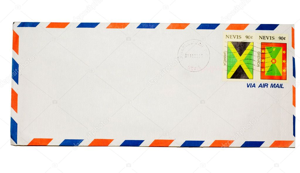 Isolated envelope on white background  Stock Photo #1585268