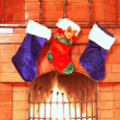 Christmas stockings — Foto Stock