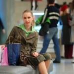 Girl shopping in mall — Stock Photo #1595308