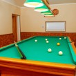 Billiards room interior - Stock Photo