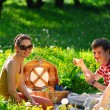 Stock Photo: Friends on picnic