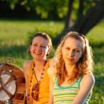 Girls on picnic — Stock Photo #1595804