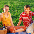 Couple on picnic — Stock Photo #1595817