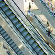 Escalators at the mall — Stock Photo