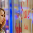 Girl in shopping mall — Stock Photo
