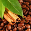 Coffee beans and cinnamon — Stock Photo #1622968