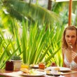 Tropical breakfast — Stock Photo