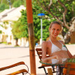 Resort cafe — Stock Photo