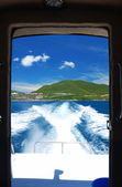 View from boat — Stock Photo