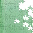 Puzzle with missing pieces - Stock Photo