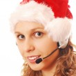 Santa Hello Girl — Stock Photo