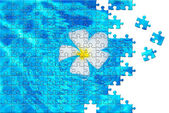 Puzzle with missing pieces — Stock Photo
