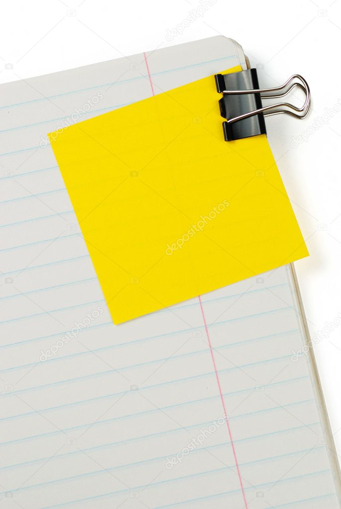 Blank to do list with soft shadow — Stock Photo #1694424