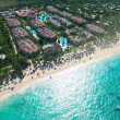 Caribbean beach aerial view — Stock Photo #1717519