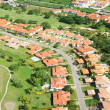 Residential district aerial view — Stockfoto