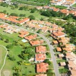 Residential district aerial view — Stock Photo