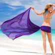 Woman with sarong — Stock Photo