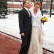 Winter wedding — Stock Photo