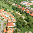Residential district aerial view - Foto Stock