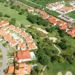Residential district aerial view - Stock Photo