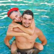 Couple in pool — Stock Photo #1815138