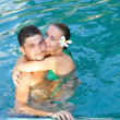 Couple in pool — Stock Photo #1815152