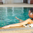 Girl in pool — Stock Photo #1815181