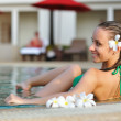 Girl in pool — Stock Photo #1815196